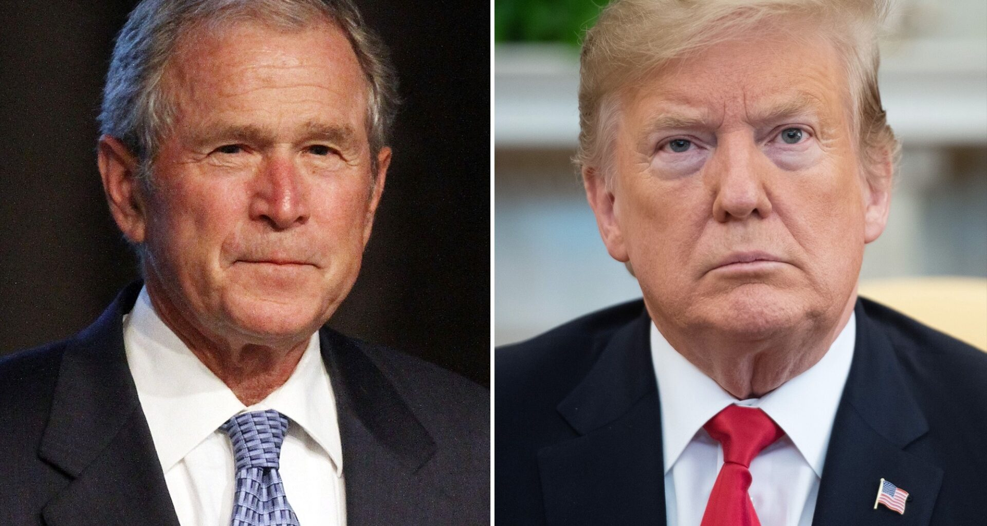 George Bush and Donald Trump